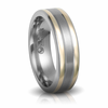 Titanium & 14K Gold Wedding Band by Edward Mirell