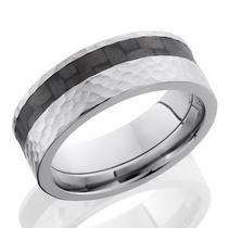 Titanium and Carbon Fiber Ring by Lashbrook Designs