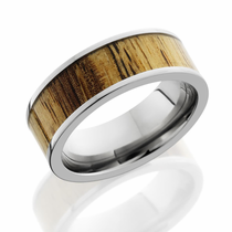 Titanium and Spalted Tamarind Wood Ring by Lashbrook Designs