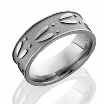Titanium Deer Track Ring -Sand Blast Finish, by Lashbrook Designs