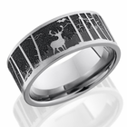 Titanium Elk and Mountain Ring by Lashbrook Designs