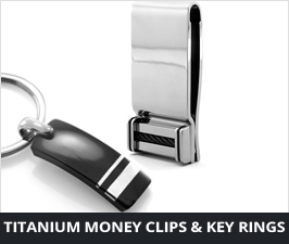 Titanium Money Clips & Key Rings
