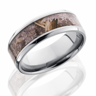 Titanium Ring With Kings Desert Camo by Lashbrook