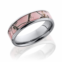 Pink Realtree Camo 6mm Titanium Ring