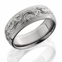 Titanium Scroll Design Ring by Lashbrook Designs