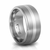 Titanium & Sterling Silver 10mm Band by Edward Mirell