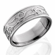 Titanium Thorn Ring By  Lashbrook Designs