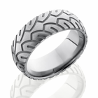 Titanium Motorcycle Tire Design Ring by Lashbrook Designs