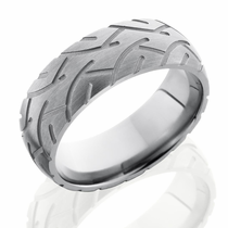 Titanium Super Slick Tire Ring by Lashbrook Designs