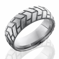 Titanium Classic Tire Thread Ring by Lashbrook Designs