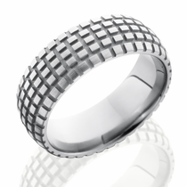 Titanium Dirt Bike Tire Tread Ring by Lashbrook Designs