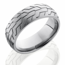 Titanium Tire Track Ring by Lashbrook Designs