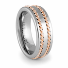 TRANSITION Tungsten Carbide & Red Gold Ring by J.R. YATES