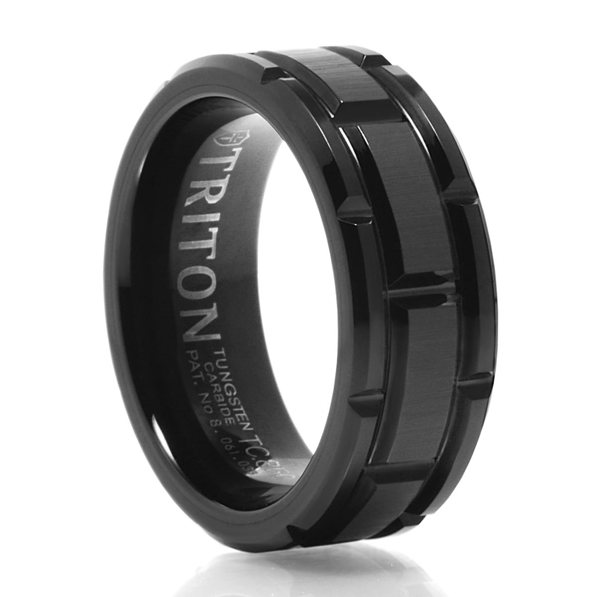 fort awesome triton band wedding ring of fit elegant s from carbide macy men rings tungsten