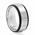 TRITON Black & White Tungsten Wedding Band Kraze