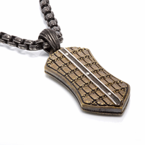 TRITON Bronze & Steel Necklace