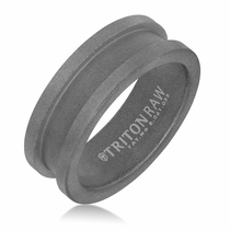 Triton RAW Tungsten Channel Ring