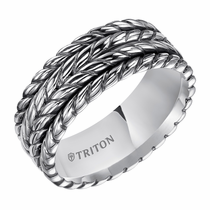 Triton Sterling Silver Rope Design Ring
