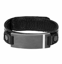 Triton Tungsten RAW Leather Bracelet