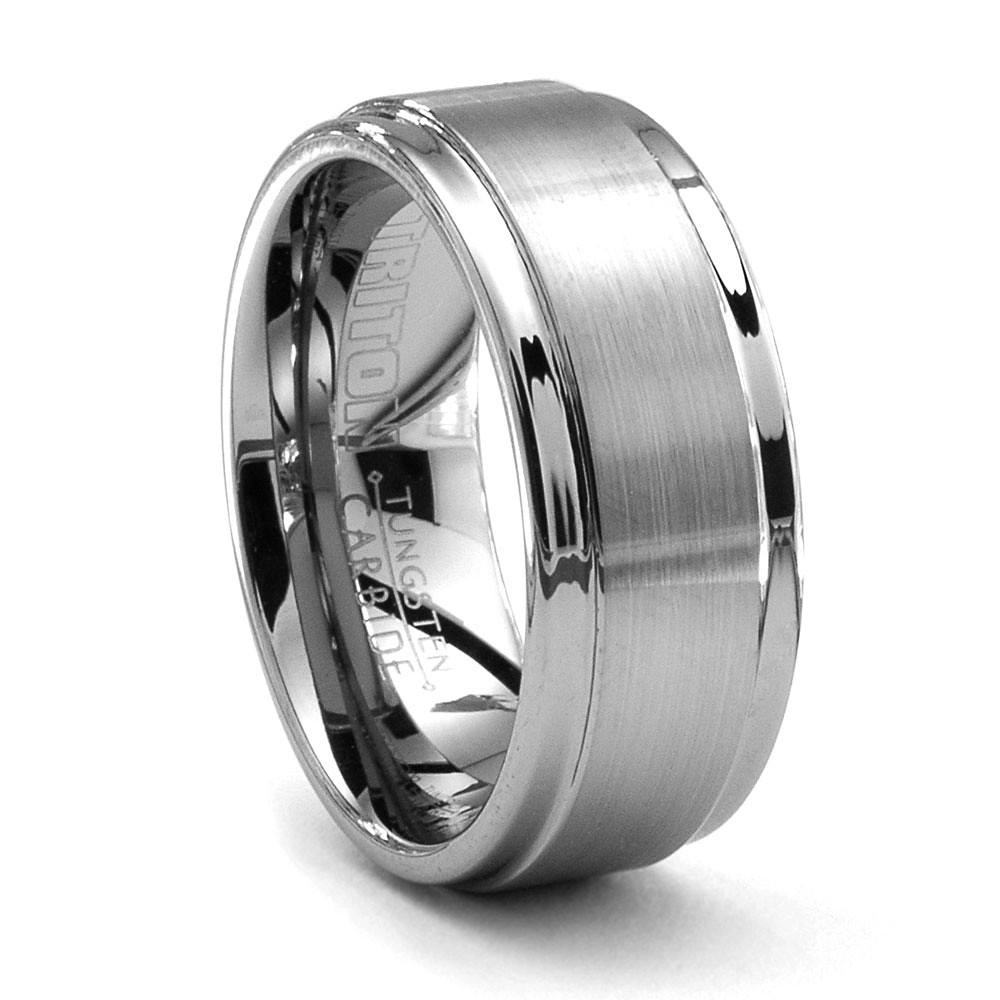 pin carbide ring inlayed tungsten wedding rings grain with center triton wood modernweddingring