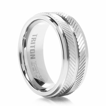 TRITON White Tungsten Wedding Band - REVV