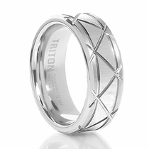 TRITON White Tungsten Wedding band Pulse