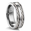 TULLAMORE Tungsten Carbide and Silver Ring by J.R. YATES
