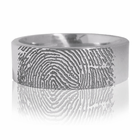 Tungsten Carbide Finger Print Ring by J.R. YATES