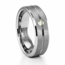 Tungsten Diamond Ring by TRITON