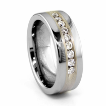 Tungsten Diamond Ring - MINERVA