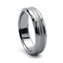 VALLE Tungsten Wedding Band by Heavy Stone Rings