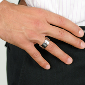 WILLIAMS Cobalt Chrome Ring by Heavy Stone Rings