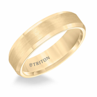 Yellow Tungsten 6mm Bevel Edge Ring by Triton