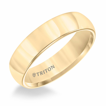 Yellow Tungsten 6mm Domed Ring by Triton