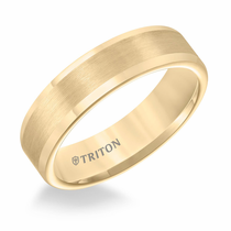 Yellow Tungsten 6mm Flat Ring by Triton