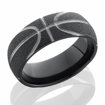 Zirconium Basketball Ring by Lashbrook Designs