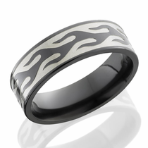 Zirconium Flame Band by Lashbrook Designs