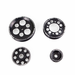 TITAN 4 Piece BLACK EDITION Billet Aluminum Pulley Set w/idler for 2JZ/1JZ