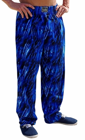 Crazee Wear Classic Relaxed Fit Baggy Pants- Blue Tide