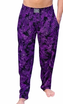 Crazee Wear Classic Relaxed Fit Baggy Pants- Purple Rain