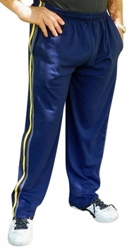 Crazee Wear Stripe Relaxed Fit Pants- Navy Yellow Grey