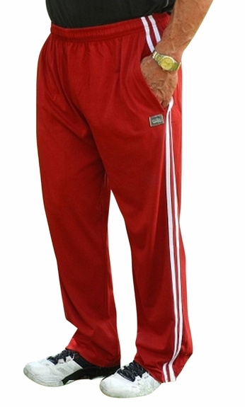 Crazee Wear Stripe Relaxed Fit Pants- Red White