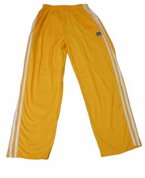 Crazee Wear Stripe Relaxed Fit Pants- Yellow White
