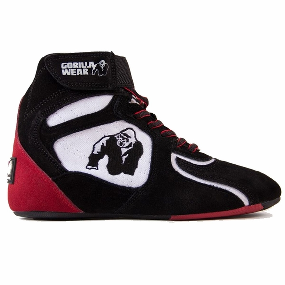 "Gorilla Wear Chicago High Top Shoes - Black/White/Red ""Limited"""