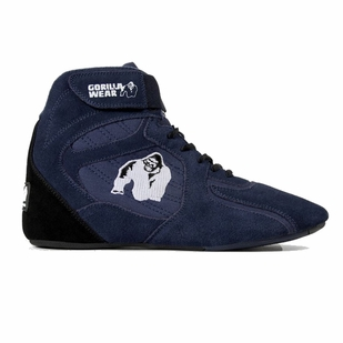 "Gorilla Wear Chicago High Top Shoes - Navy ""Limited"""