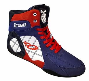 New- Otomix USA Ninja Warrior Bodybuilding Combat Shoe-M/F3333NEW- Red/White/Blue