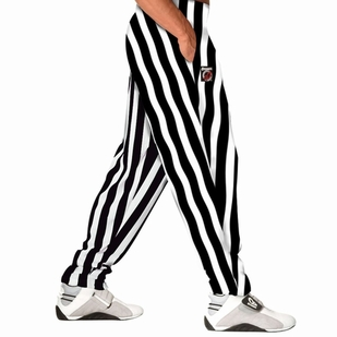 Otomix White/Black Stripe Bodybuilding Baggy Pant