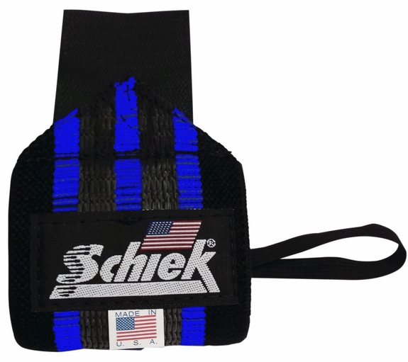 Schiek Heavy Duty Rubber Reinforced Blue Line Wrist Wraps- Model 1112R