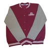T. Micheal Embroidered Athletic Jacket - Maroon Body