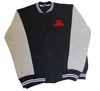 T. Micheal Embroidered Athletic Jacket - Navy Body